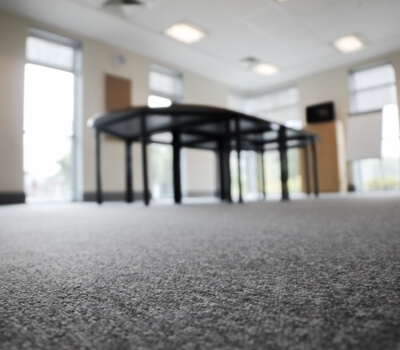 Commercial Carpet Cleaning - office hallway