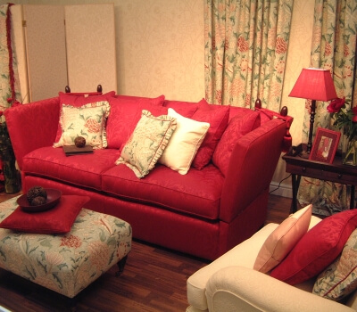 Upholstery Suite in need of cleaning in a modern rool